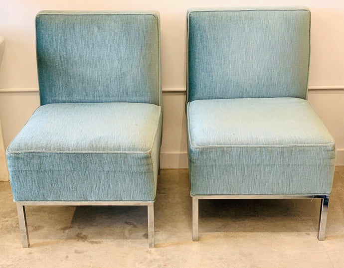 Light Blue Armless | Accent Chairs