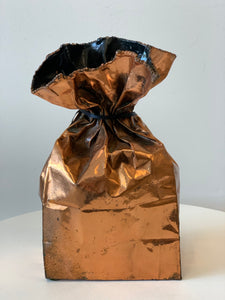 Rustic Copper Paper Bag