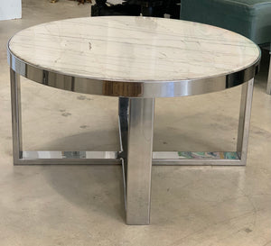 1990s Contemporary Marble Coffee Table