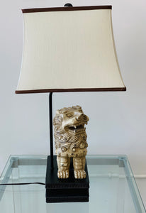 Vintage 1980s Foo Dog Lamps - Set of 2