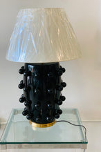 Lamp in Black with Linen Shade | Kelly Wearstler