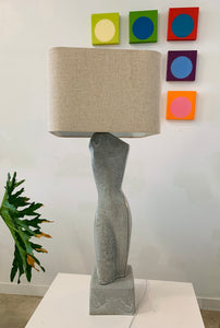 Vintage 1990s Large Female Sculptural Ceramic Lamp