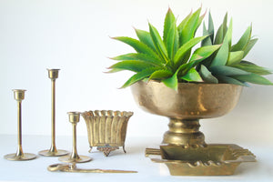 Vintage Brass Alter Candlesticks Set/3
