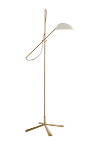 AERIN | Floor Lamp Antique Brass With White