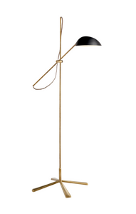 AERIN | Floor Lamp Antique Brass With Black