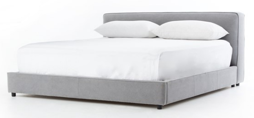Low Profile Upholstered Queen Bed Frame