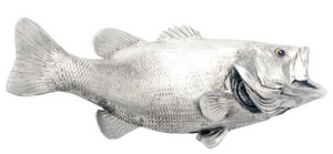 Silver Leaf Largemouth Bass Wall Sculpture