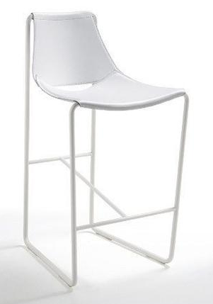 All White Sling Counter Stool