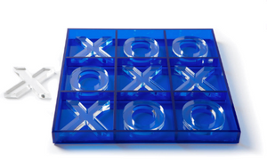 Blue Acrylic TicTacToe Set
