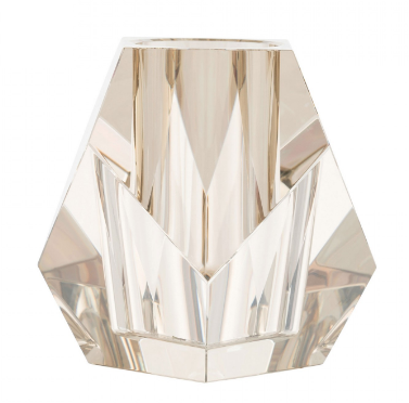 Faceted Champagne Glass Vase