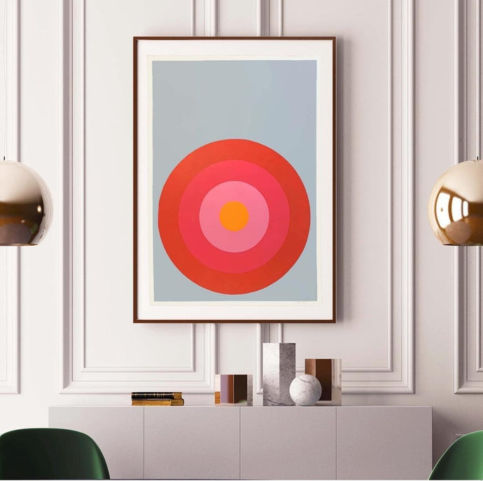 "Stephanie Henderson | Target Practice in Camellia | 30"" x 41"" (unframed)"