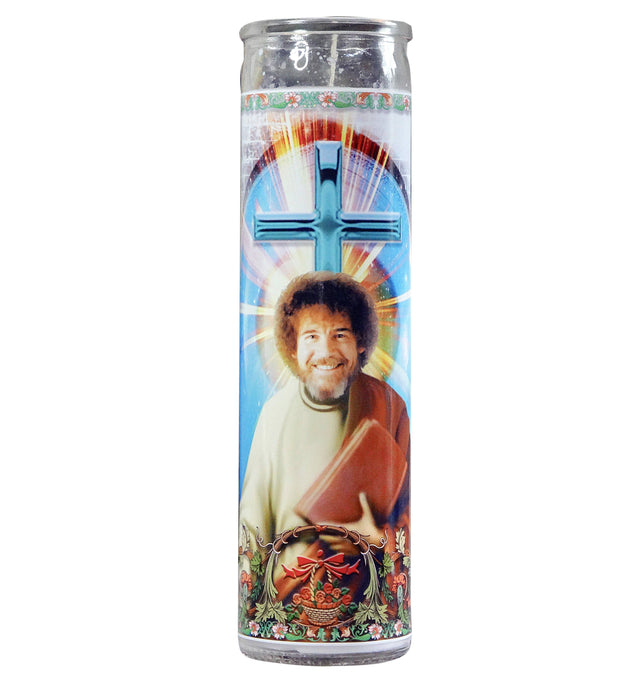 Bob Ross Celebrity Prayer Candle