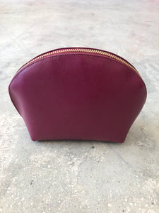 Neiman Marcus | Large Leather Cosmetic Case | Hot Pink