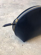 Neiman Marcus | Large Leather Cosmetic Case | Navy