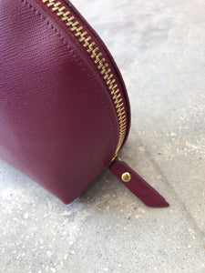 Large Leather Cosmetic Case