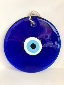 "Large Glass Evil Eye | 8.5"" round"