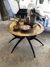 Vintage Brass Tray Table