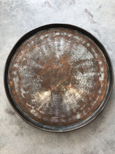 Vintage Round Copper Tray