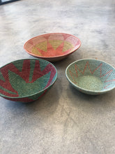 Set of 3 African Woven Bowls
