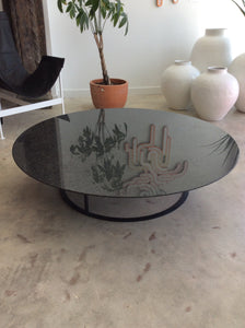 Vintage Black Modern Marble Coffee Table