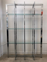 Vintage Chrome & Glass Bookcase