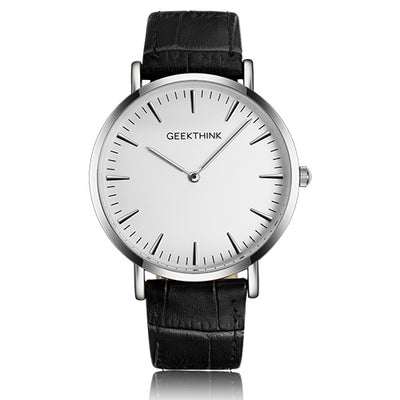 Ultra Thin Leather Watch