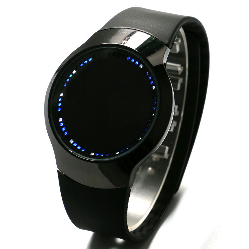Minimalist Silicone LED Smart Watch for Men - menswhistle