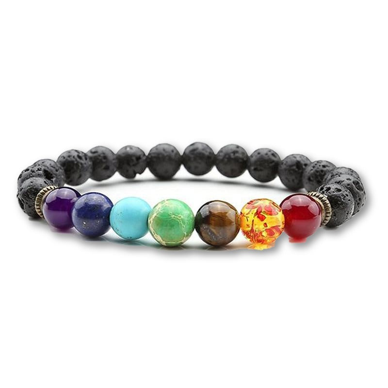 Chakra healing beaded stone Bracelet for Men - menswhistle