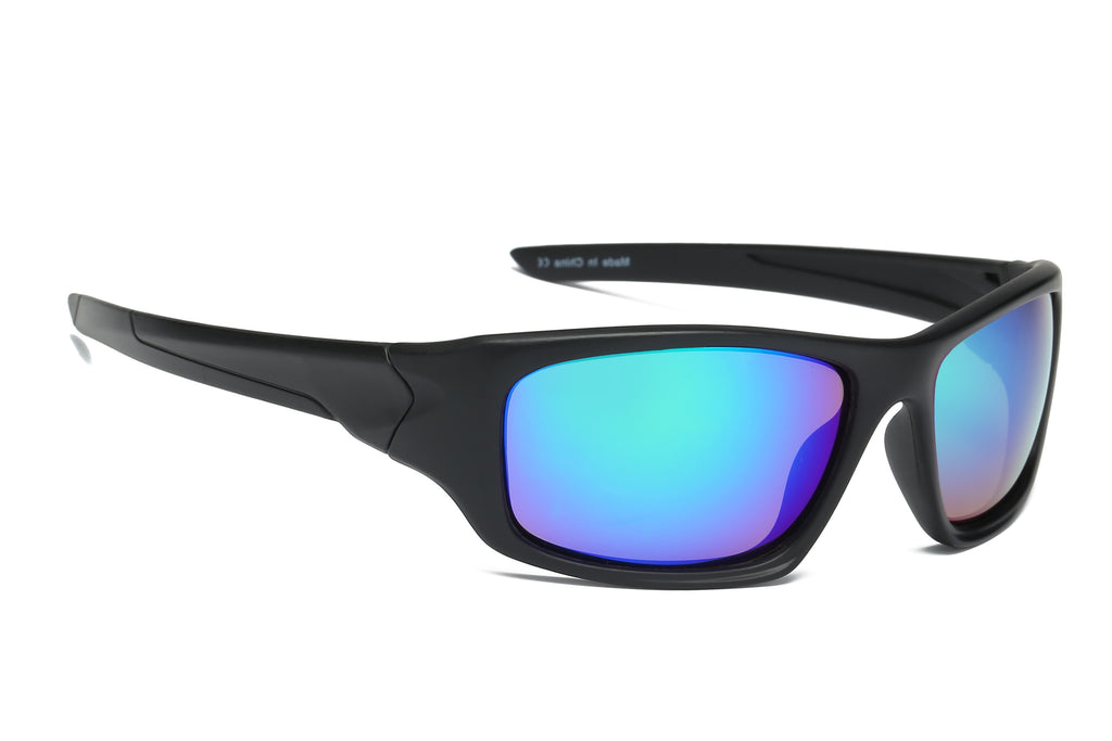 Retro Bold Sports Mirrored Sunglasses