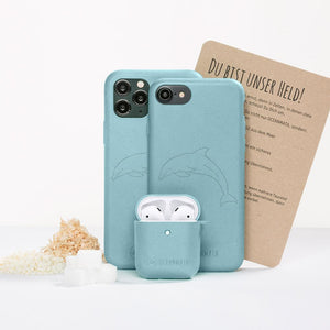 "OceanMata® biologisches Apple AirPod Case ""Dolphin Edition"" - OceanMata"