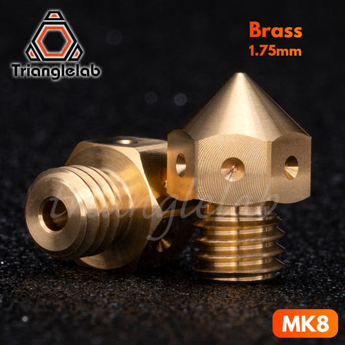 trianglelab Top quality Brass MK8 Nozzle for 3D printers hotend 1.75MM Filament  J-head cr10 heat block ender3 hotend m6 Thread