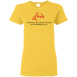 Love Ladies womens t shirt - Fonbags.com
