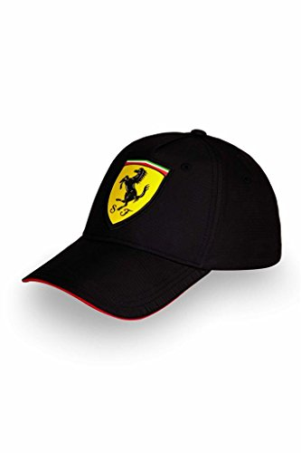 Ferrari Formula 1 Motorsports Black Scudetto Carbon Polyester Hat Cap Adjustable