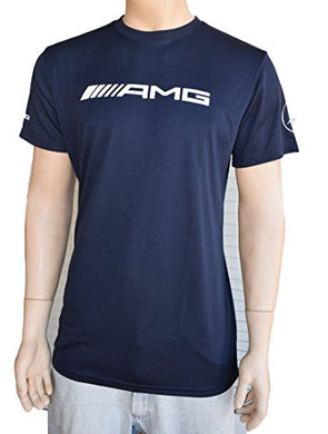 MERCEDES-BENZ AMG Dri-Fit Shirt for Men, Short sleeve Navy