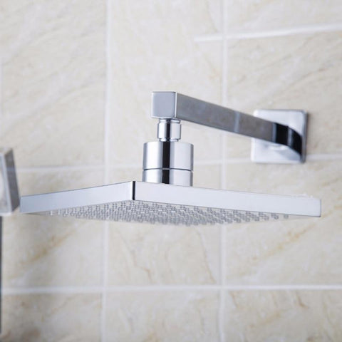 8 inch Rainfall Shower Head Wall Mounted With 200 mm Shower Arm 8 inch Rainfall Shower Head Wall Mounted With 200 mm Shower Arm FLUXURIE.COM