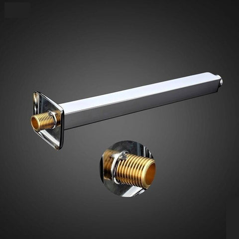 "9.8"" Ceiling Shower Arm Shower Pipe Brass Chrome Finished FLUXURIE.COM"
