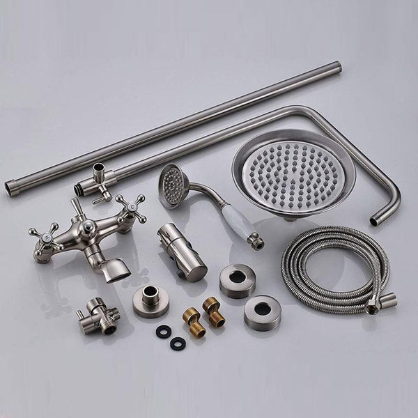 ADJUSTABLE CLASSIC SHOWER SET SYSTEM 8 INCH IN BRUSHED NICKEL - IMPERIA Imperia FLUXURIE.COM