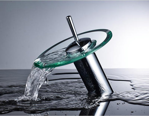 Advanced modern glass waterfall Faucet FLUXURIE.COM