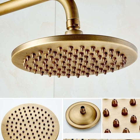 Antique 8 inch Wall Mounted Shower Set System - CAIRA Caira FLUXURIE.COM