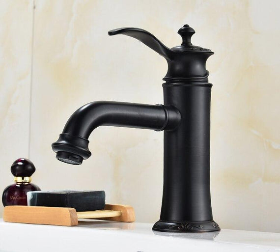 Antique Bathroom Faucet / Oil Rubbed Bronze Rose Gold & ORB Black FLUXURIE.COM
