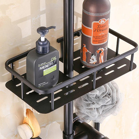 Antique Rain Shower Set System 8 inch with Storage Shelf - EUFRASIA Eufrasia FLUXURIE.COM
