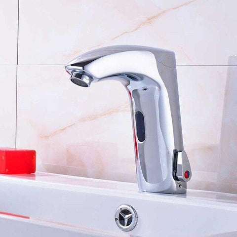 Automatic Inflrared Sensor Faucet with Sink Mixer & Hot Cold Mixer / Polished Chrome FLUXURIE.COM Sense Faucet B CHINA