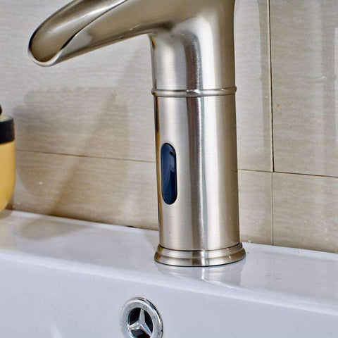 Automatic Sensor LED Waterfall Bathroom Sink Faucet Automatic Sensor LED Waterfall Bathroom Sink Faucet FLUXURIE.COM