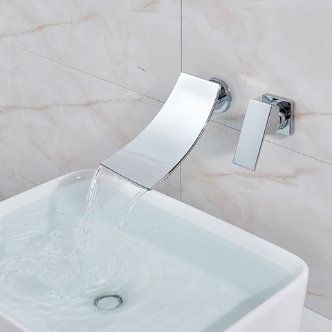 Bathroom Waterfall Basin Mixer Faucet FLUXURIE.COM
