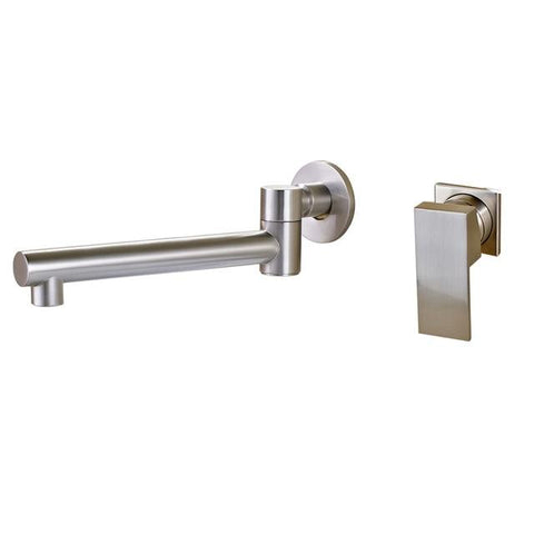 Bathroom Waterfall Basin Mixer Faucet FLUXURIE.COM Brushed Nickel B