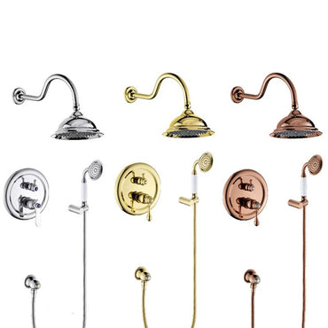 "Beautiful 8"" Antique Style Shower system - GILIA Gilia FLUXURIE.COM"