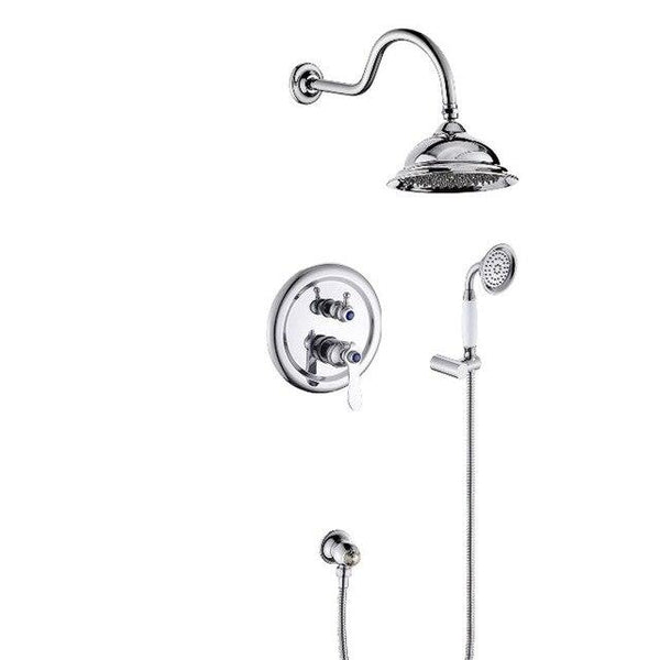 "Beautiful 8"" Antique Style Shower system - GILIA Gilia FLUXURIE.COM chrome finished"