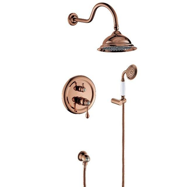 "Beautiful 8"" Antique Style Shower system - GILIA Gilia FLUXURIE.COM rose golden finished"