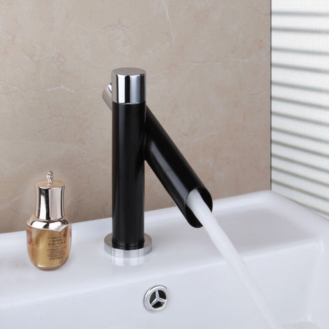 Black Designer Bathroom Sink Bathtub Faucet Black Designer Bathroom Sink Bathtub Faucet FLUXURIE.COM