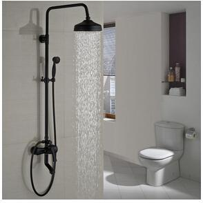 Classic Black Shower Set System 8 inch in Oilrubbed Bronze - AMINA Amina FLUXURIE.COM
